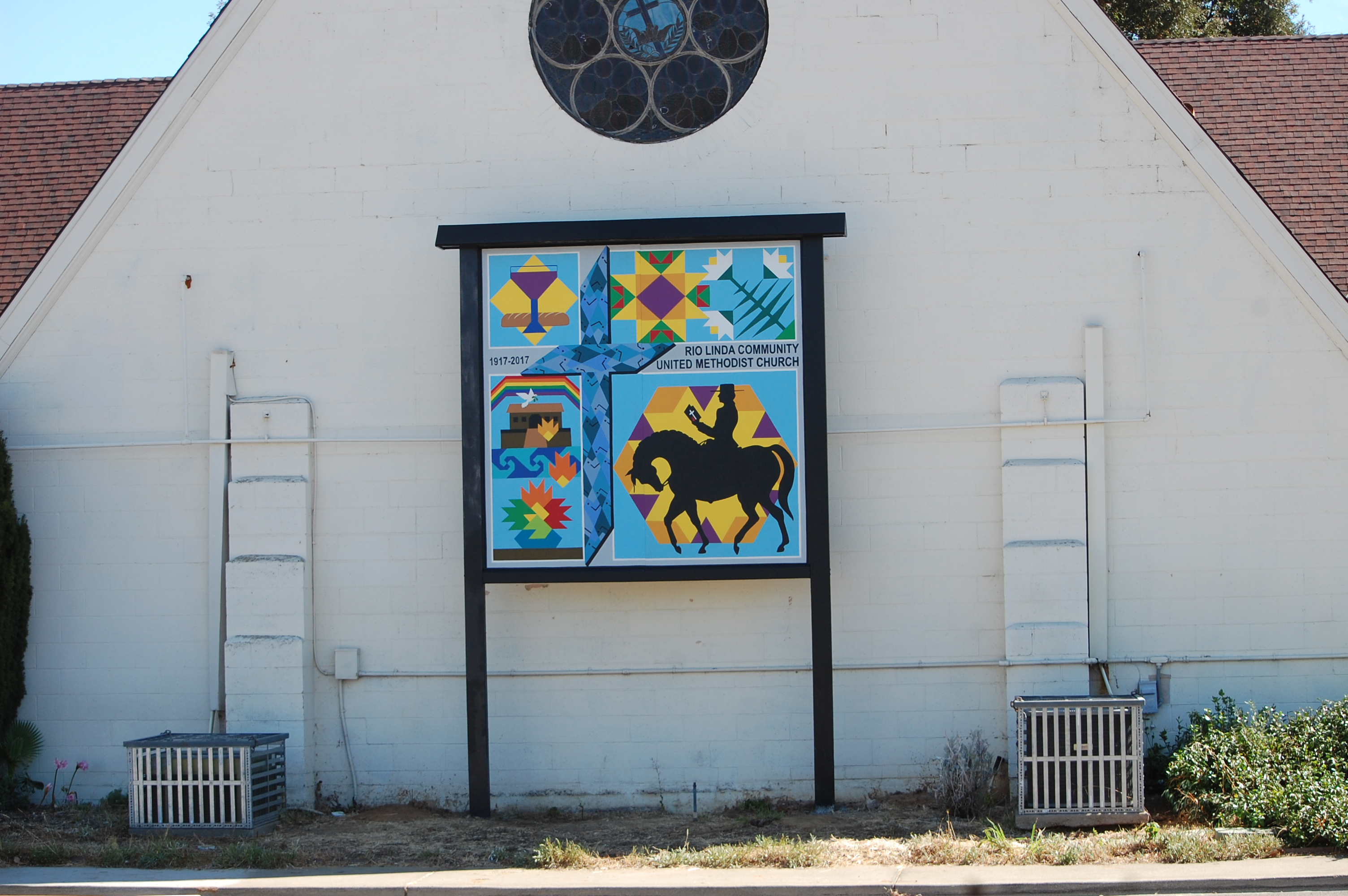 October 2017 the symbols have meaning to the church community and represent events found in the bible the church members helped us in painting and made a beautiful biocorpaavc Choice Image